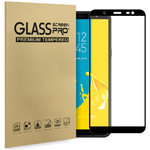 Full Glue Tempered Glass Screen Protector - Samsung Galaxy J8 - Black